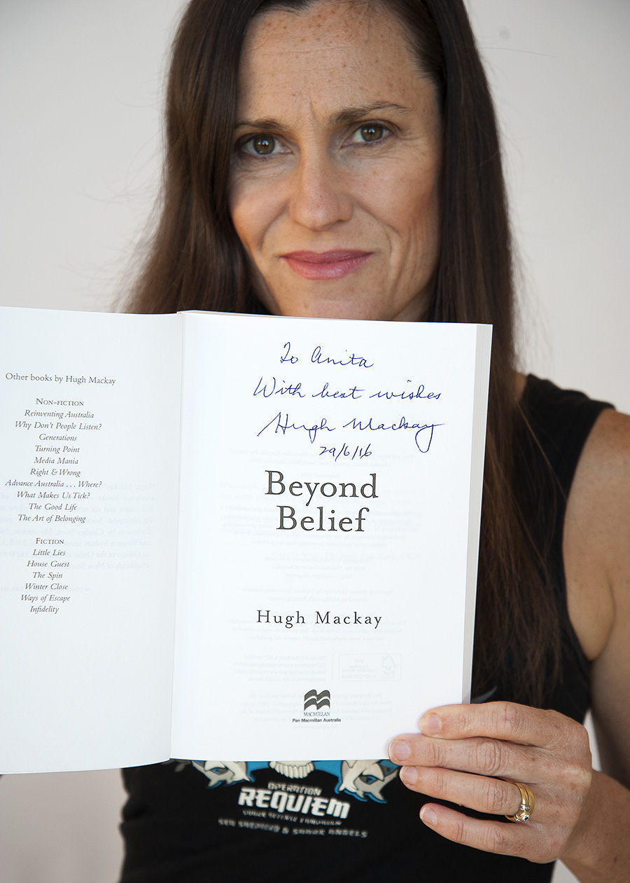 My copy of 'Beyond Belief' signed by the author.