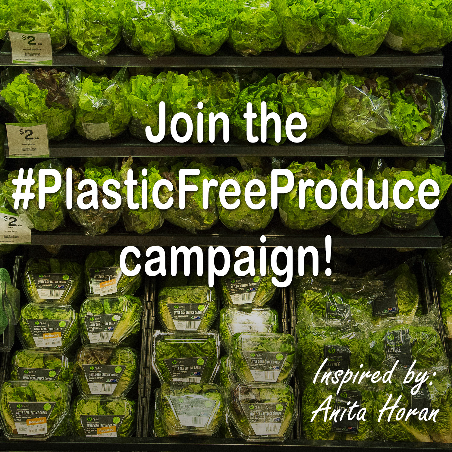 Ask for plastic free produce.