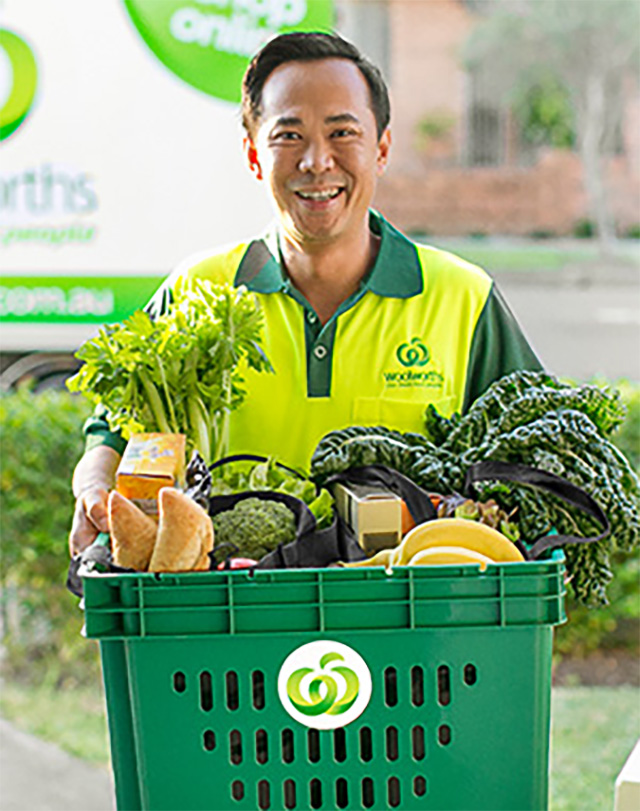 Woolworths home delivery driver