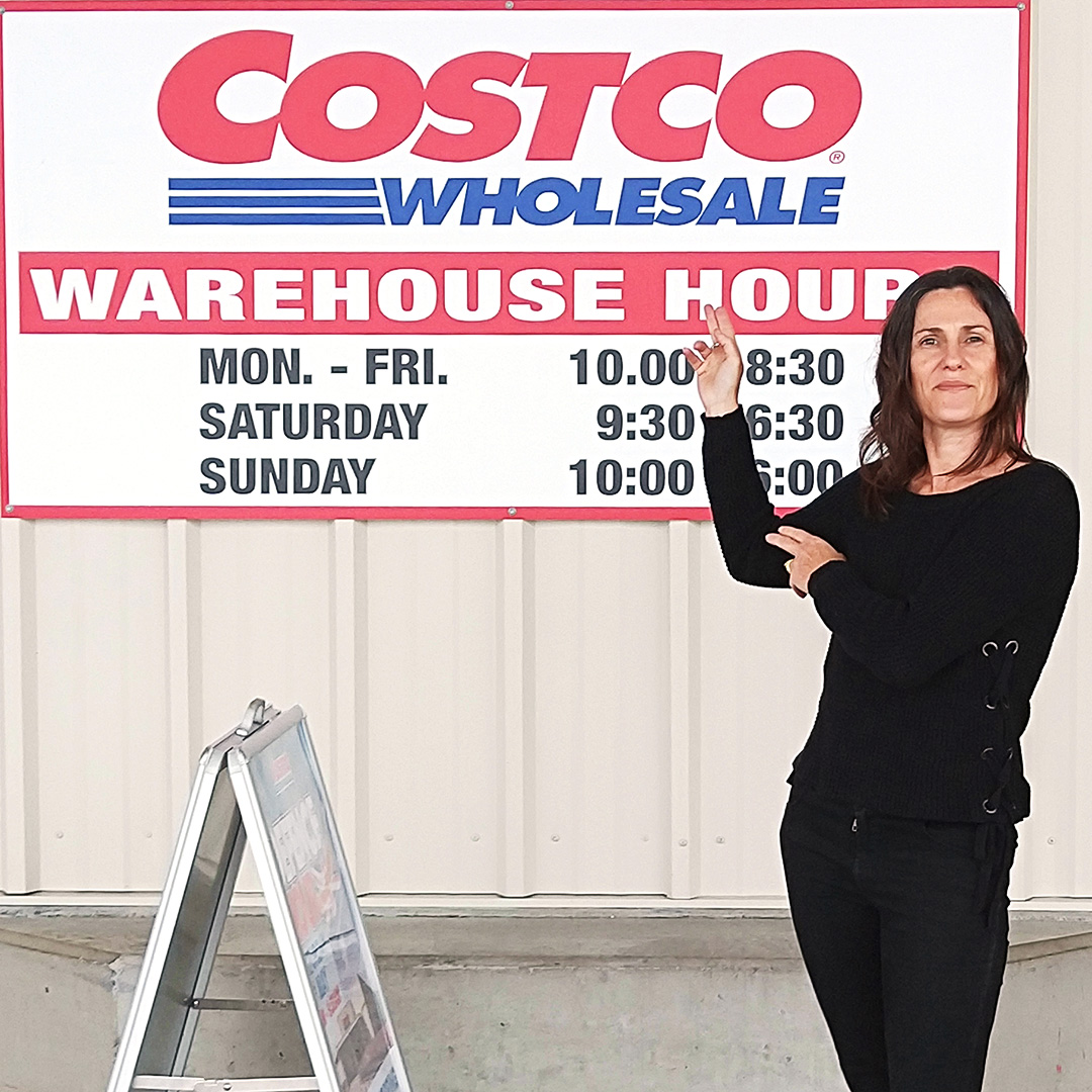 Anita Horan outside a Costco store in Australia.