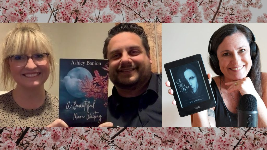 Ashley and Vince Banion talk with author Anita Horan